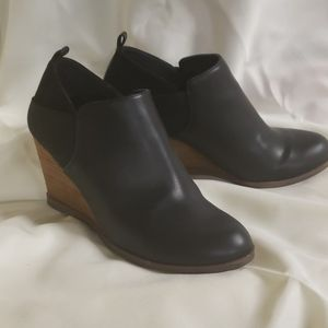 Black ankle boots,  size 8